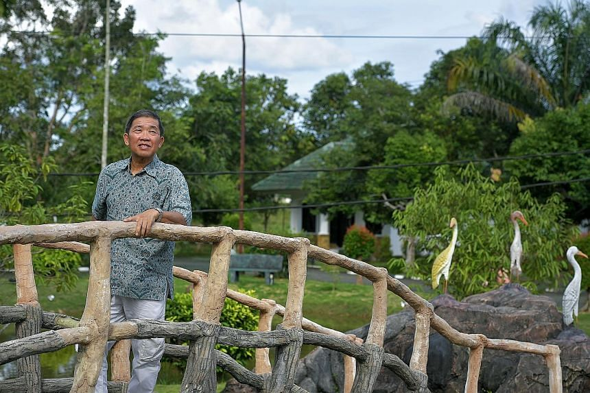 Singaporean Ling Weng Kee, chief executive of Bintan Nanyang Resources, at his company's Lohas Wellness Village in Bintan. He and a group of partners are planning to build a university on the land modelled after the old Nanyang University, or Nantah,