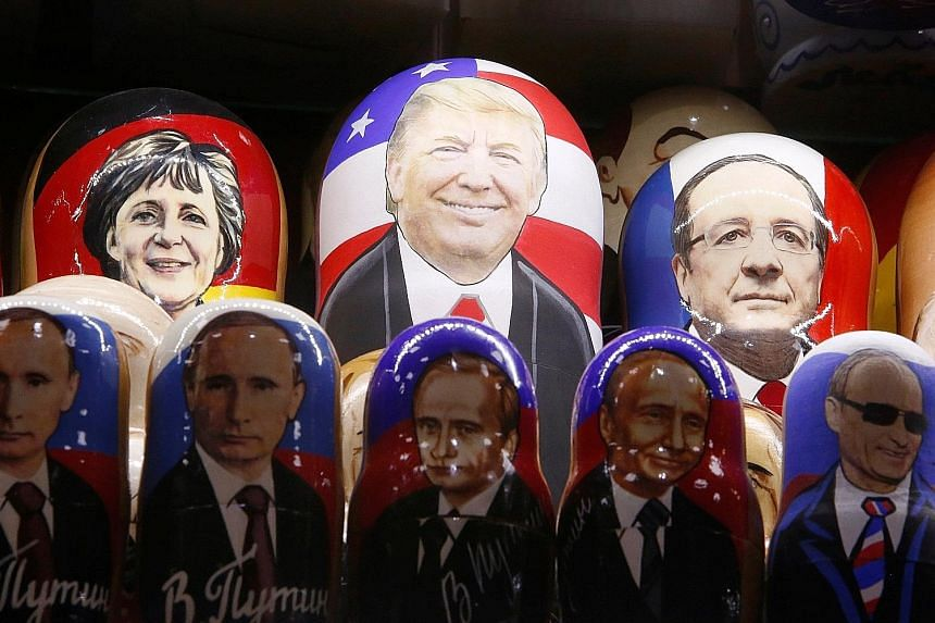 Ms Marine Le Pen, leader of the National Front in France, was among the first people to congratulate Mr Trump on his victory in the US presidential election. Her party has the support of working-class voters. Russian nesting dolls with the faces of (