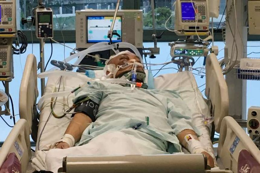 Mr Lim Chwee Leong in an earlier Shin Min picture after his fall on Nov 12.