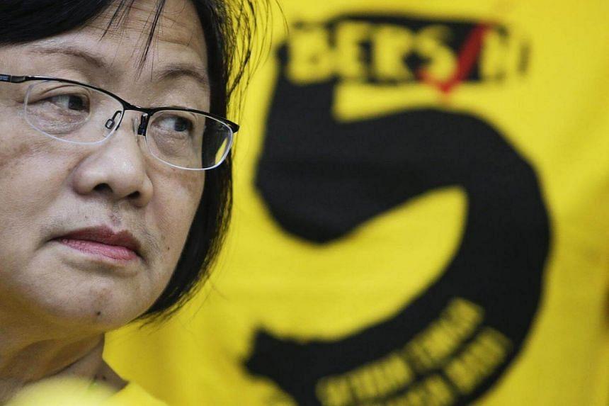 Maria Chin looks on during the Bersih 5.0 rally press conference in Kuala Lumpur on Nov 17, 2016.