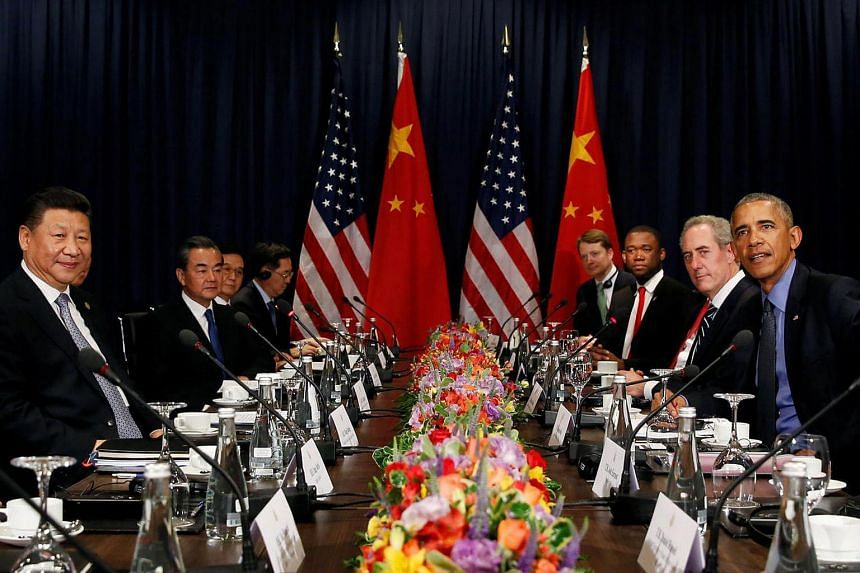 US President Barack Obama meets with Chinese President Xi Jinping during the Apec Summit in Lima, Peru on Nov 19, 2016.