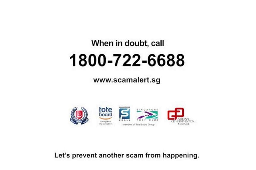 The new anti-scam helpline will be in operation starting Monday (Nov 21).