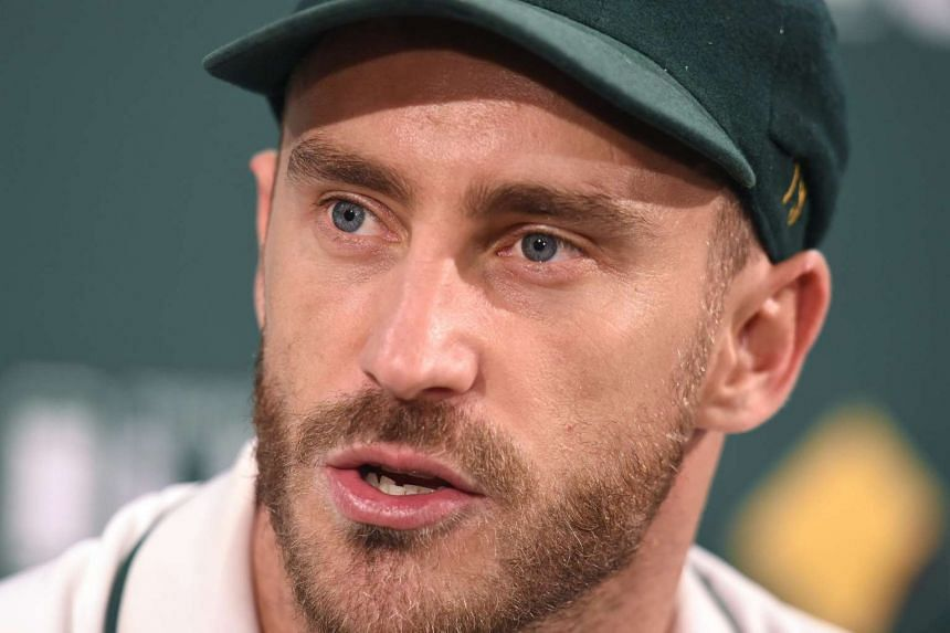 South African captain Faf du Plessis looks on during a post match press conference following Australia's series loss to South Africa at Bellerive Oval in Hobart, Tasmania, Australia, on Nov 15, 2016.