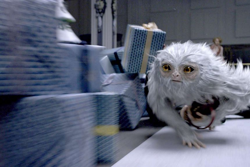 A beast called a Demiguise in a scene from Fantastic Beasts and Where to Find Them.