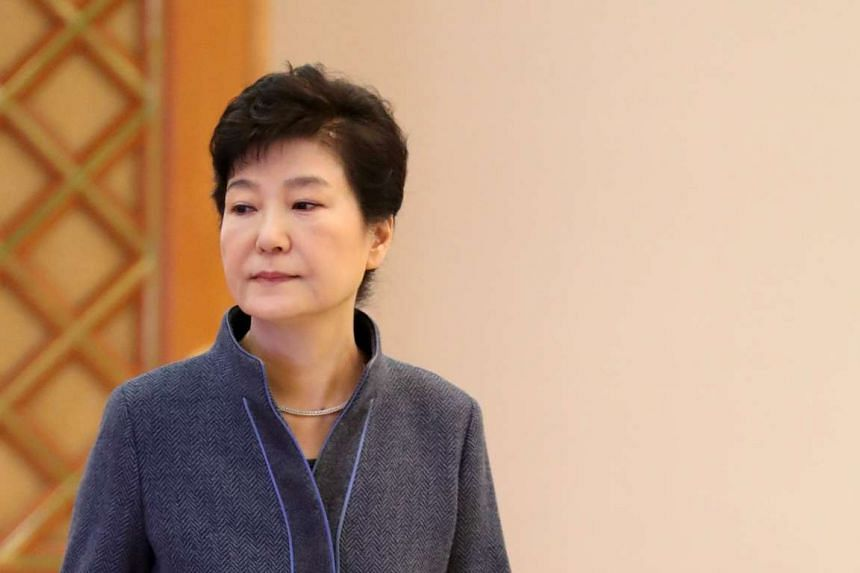South Korean President Park Geun Hye is seen as she attends an event to grant certificates of appointments to newly appointed officials at the presidential Blue House, in Seoul, South Korea, on Nov 18, 2016.