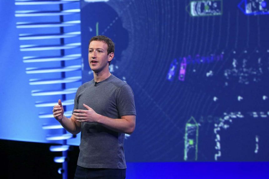 Mark Zuckerberg at a Facebook conference in San Francisco on April 12, 2016.