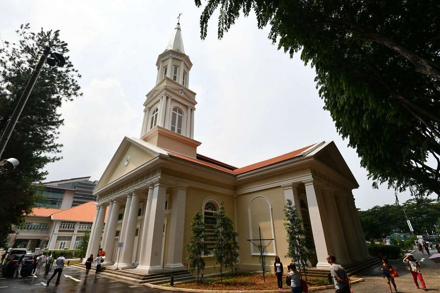 First mass at the newly restored Cathedral of Good Shepherd that was closed for three years of restoration works, on Nov 20, 2016.