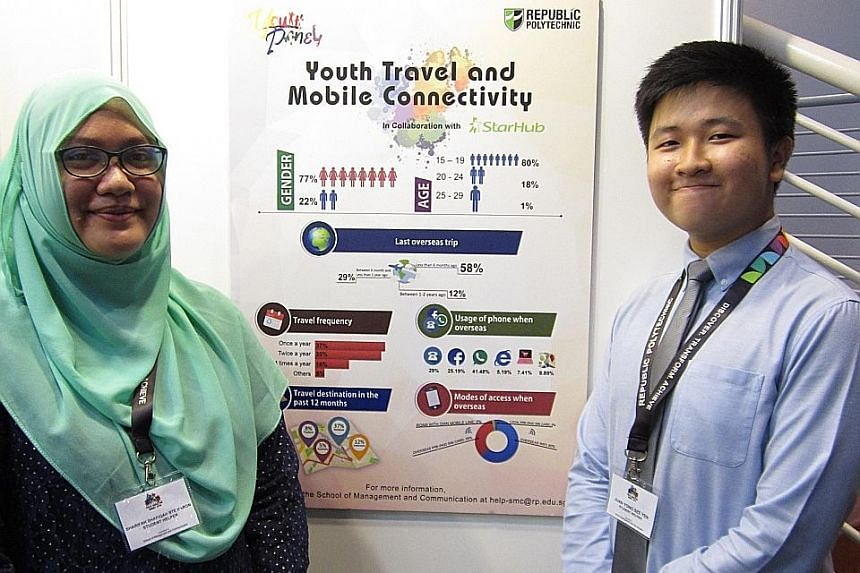 Second-year consumer behaviour and research students Sharifah Shafiqah Haron and Juan Yong Sze Yen, both 19, are part of a 10-strong committee of the Youth Panel.