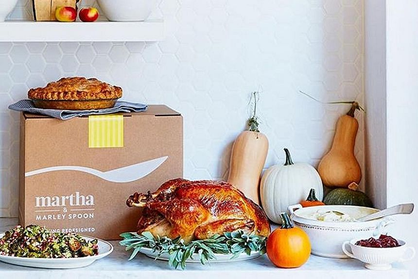 Martha Stewart has teamed up with Marley Spoon to offer meal kits (above).