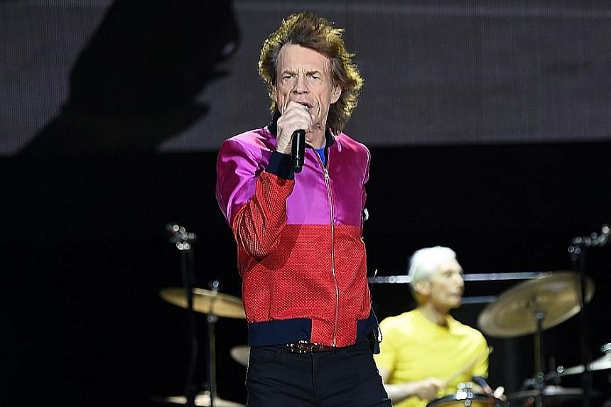 Mick Jagger with The Rolling Stones performing during the Desert Trip music festival in California last month.