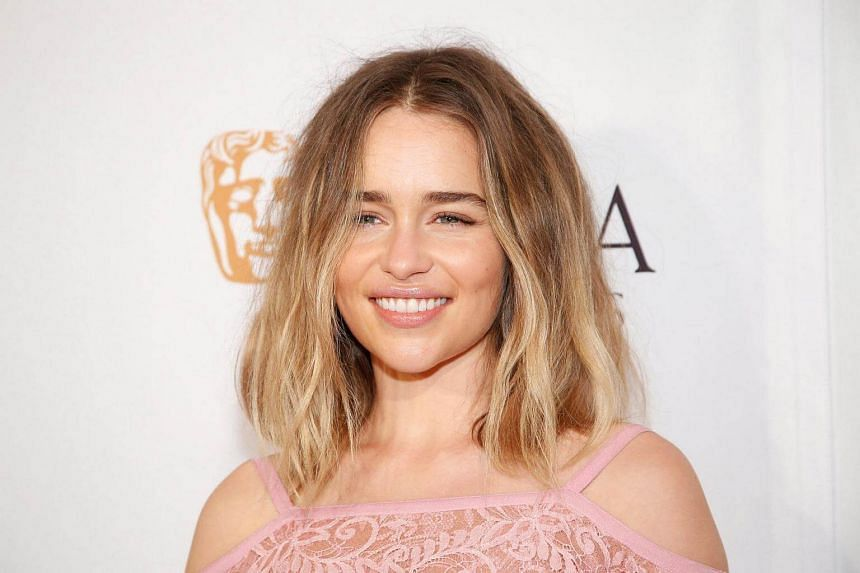 Actress Emilia Clarke poses at the BAFTA Los Angeles TV Tea Party in West Hollywood, California on Sept 17, 2015.