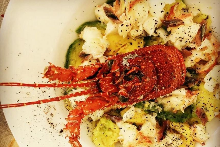 A lobster salad by Spanish-American chef Jose Andres.