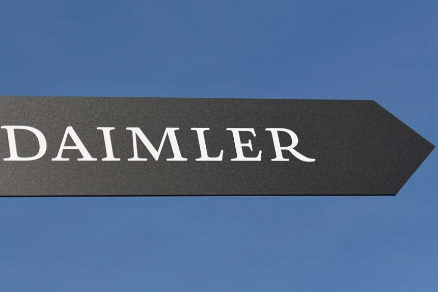 Daimler AG sign is pictured at the IAA truck show in Hanover, Germany, on Sept 22, 2016.