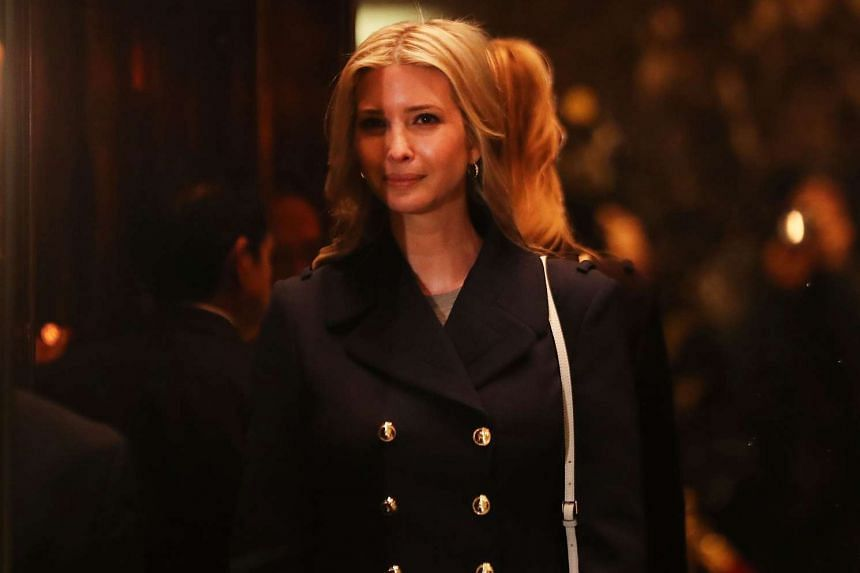 Ivanka Trump walks through the lobby of Trump Tower on Nov 21, 2016 in New York City.