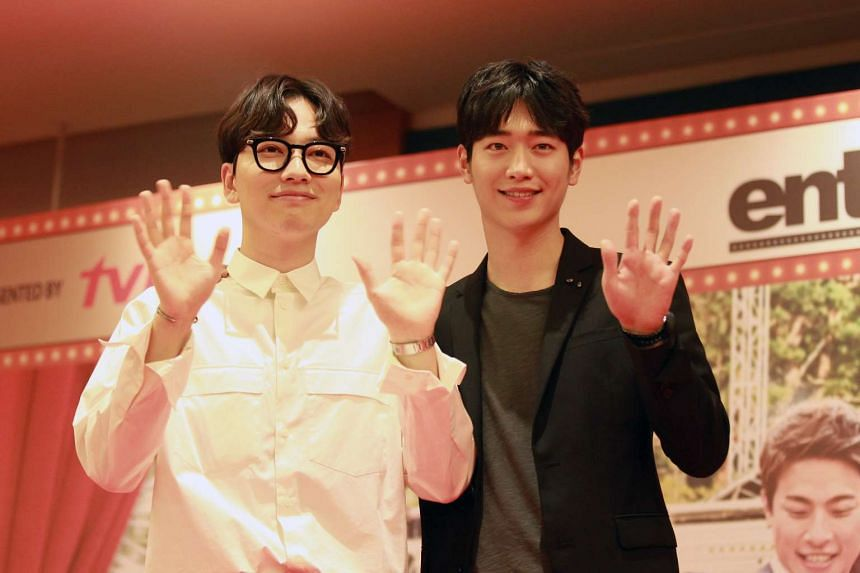 Actor Seo Kang Joon (right), 23, and co-star Lee Dong Hwi , 31, were at a media session at Resorts World Sentosa on Tuesday (Nov 22) to promote the drama.