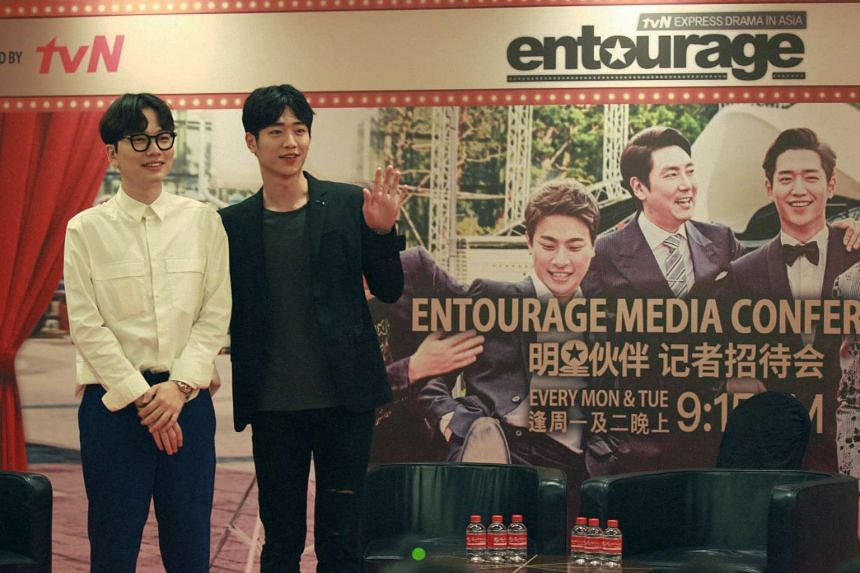 Actor Seo Kang Joon (right), 23, and co-star Lee Dong Hwi , 31, were at a media session at Resorts World Sentosa on Tuesday (Nov 22) to promote the drama