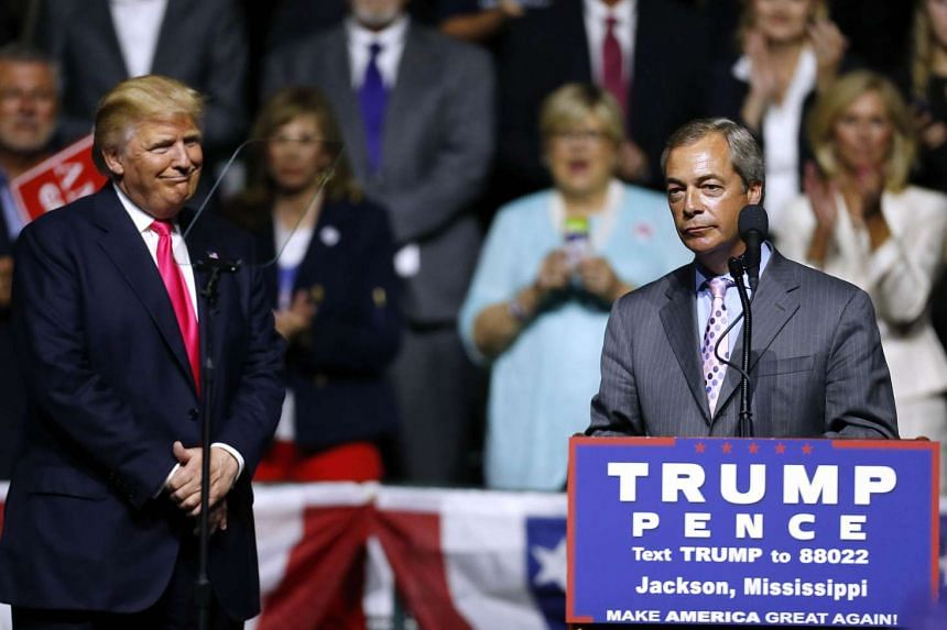 """Mr Donald Trump has tweeted that Brexit campaigner Nigel Farage """"would do a great job"""" as British ambassador to the US."""