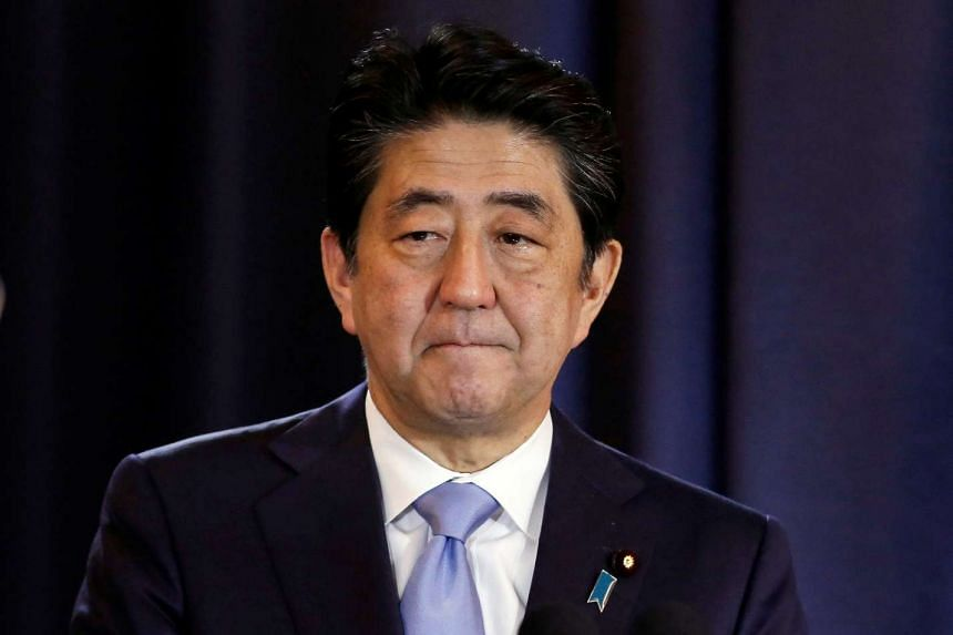 Japanese Prime Minister Shinzo Abe gestures during a press conference in Buenos Aires, Argentina, on Nov 21, 2016.