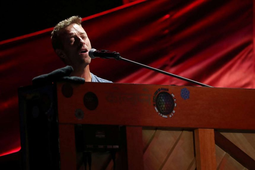 Chris Martin of Coldplay performs at the Global Citizen Festival at Central Park in Manhattan, New York, on Sept 24, 2016.