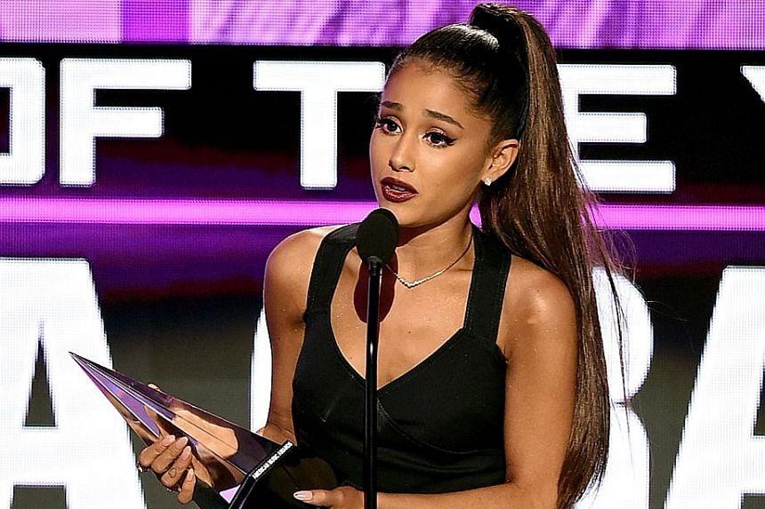 Ariana Grande won the Artist of the Year award.