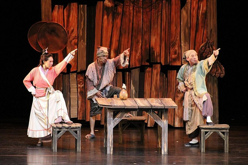 Secret Love In Peach Blossom Land (above) by Performance Workshop plays at the Esplanade Theatre on Feb 11 and 12.