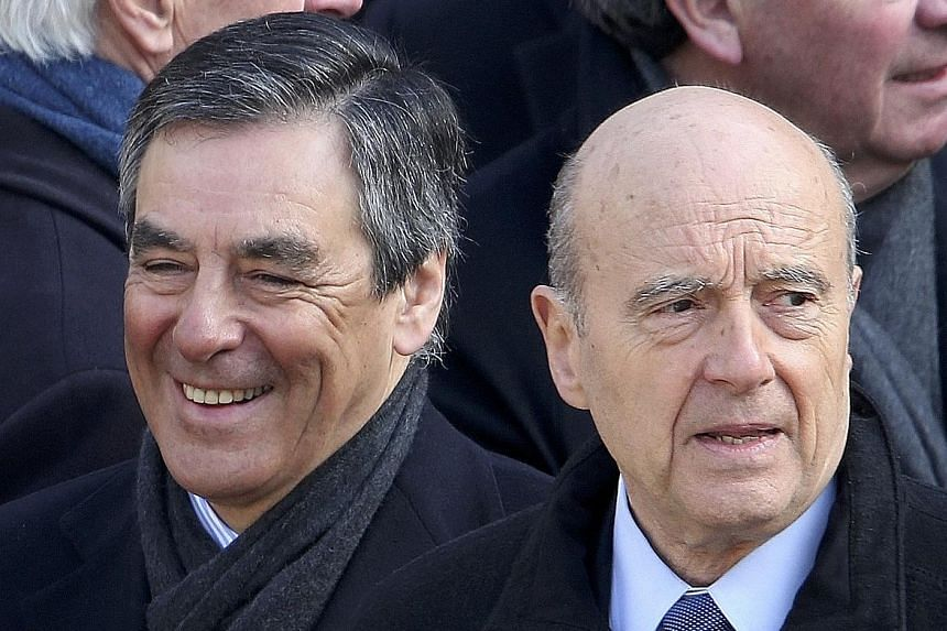 Mr Fillon (left) topped the Republican poll with 44.2 per cent of the votes cast while Mr Juppe (right) came in second with 28.4 per cent.