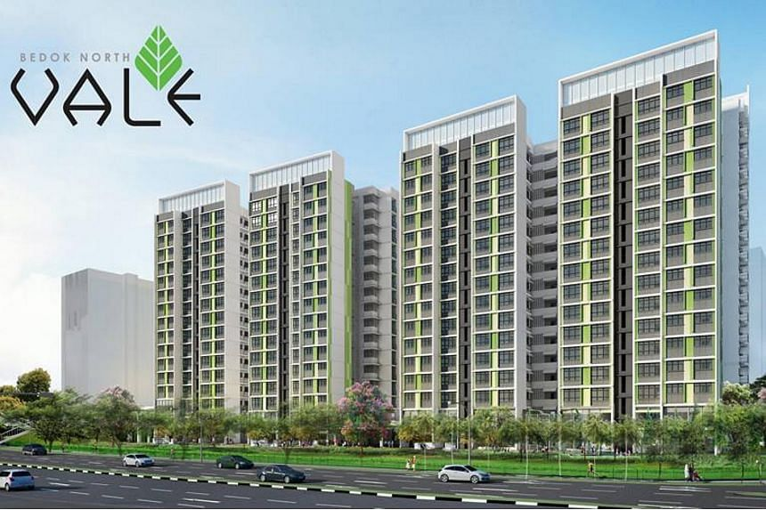 There will be 121 2-room Flexi flats and 94 3-room flats nestled amongst the greenery in Bedok North Vale.