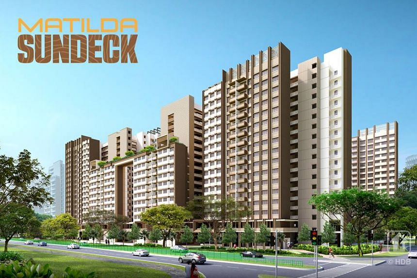 There will be 295 4-room flats and 195 5-room flats at Matilda Sundeck, surrounding a central landscape deck for recreational activities.