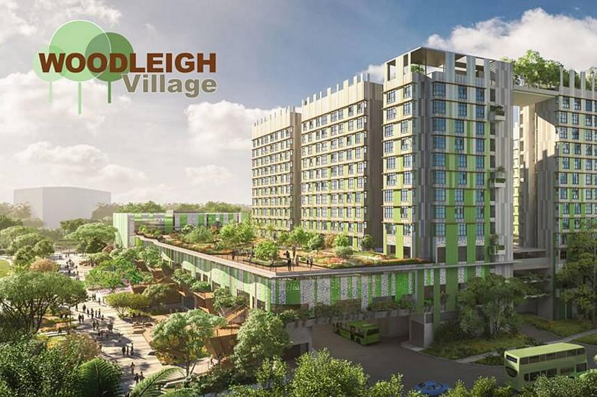 Woodleigh Village will have 171 3-room flats and 159 4-room flats. This development will be linked to a bus interchange, hawker centre, and Woodleigh MRT station.