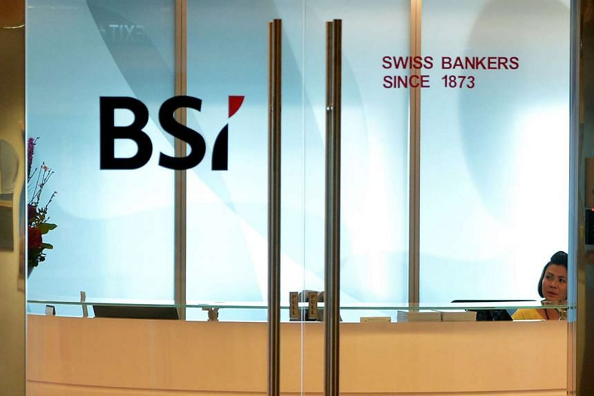 The office of Swiss private bank BSI at Suntec City.
