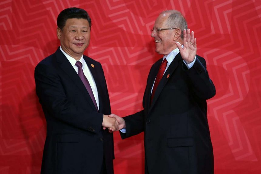 Chinese President Xi Jinping and Peruvian President Pedro Pablo Kuczynski signed 18 agreements, including one on mining and a measure to enhance their existing bilateral trade agreement.