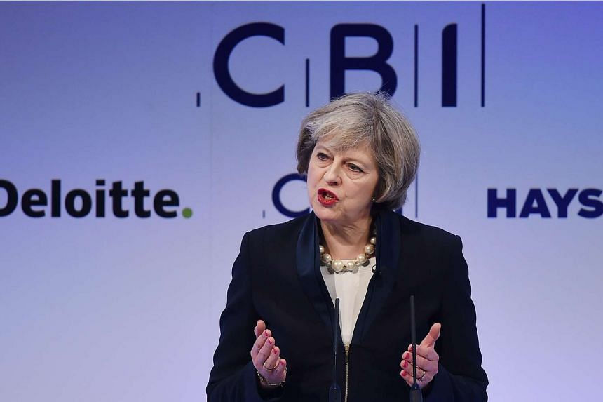 British Prime Minister Theresa May delivers a speech on Brexit and the British economy at the Confederation of British Industry annual conference in central London, Britain, Nov 21, 2016.