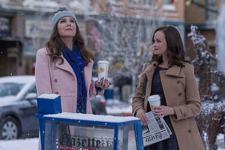 Lauren Graham (far left) and Alexis Bledel reprise their roles in Gilmore Girls: A Year In The Life.