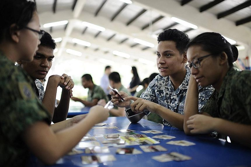 More than 160 National Cadet Corps (NCC) cadet officers yesterday tried their hands at Guardians of the City, a new Total Defence strategy card game. Based on the threat of terrorism, the game educates students on what to do during a crisis. Develope