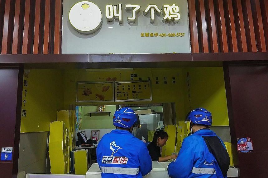 A Call a Chick outlet in Shanghai. The fried chicken chain is being investigated for possible violation of social order.