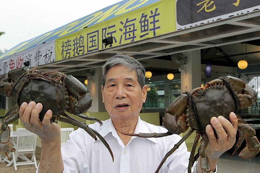 Mr Ting experimented with sauces and created the restaurant's chilli crab and mee goreng.