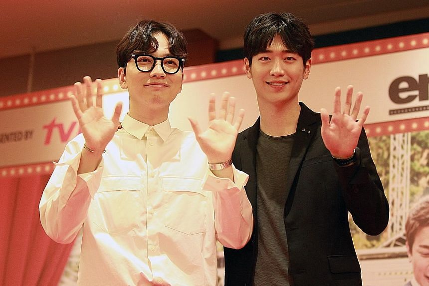 Seo Kang Joon (above right, with co-star Lee Dong Hwi).