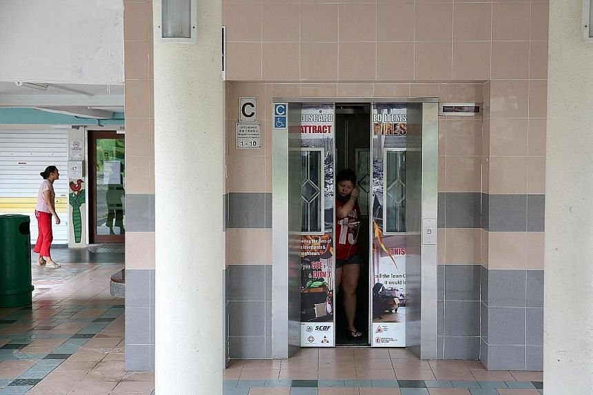 The lift at Block 207, Boon Lay Place, was back in operation following repairs. In August, the same lift also dropped unexpectedly from the third to first storey, said Madam Ng. Her daughter and two grandchildren were with her at the time, but no one