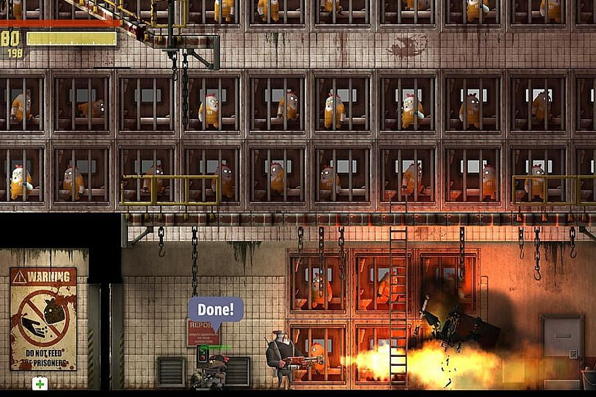 In Rocketbirds 2: Evolution, players control poultry super-soldier Hardboiled Chicken to take on penguin despot Putzki.