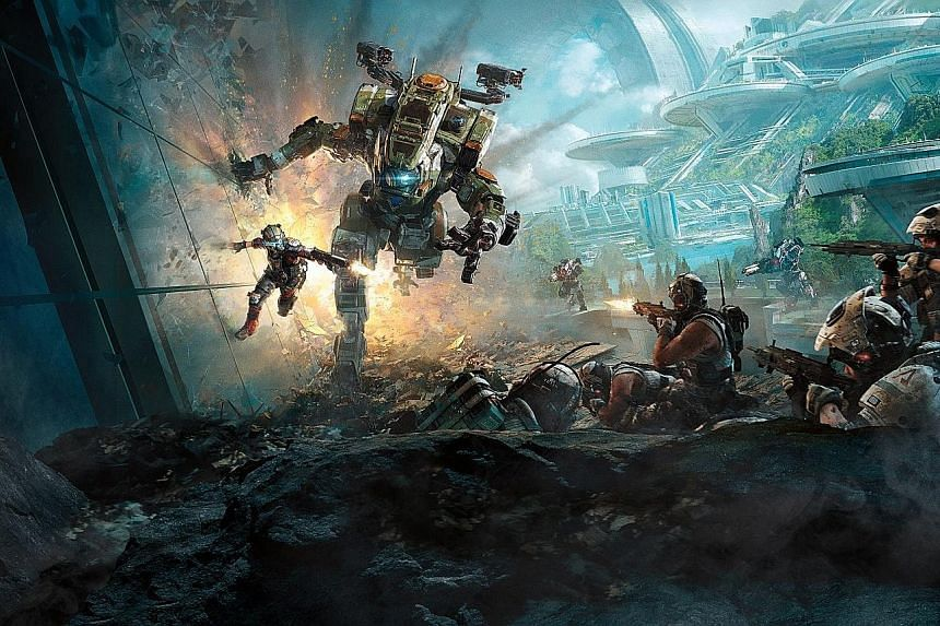 While the guns in most games deliver a sharp, metallic rat-tat-tat, the shooters in Titanfall fire with a rounded, electronic woosh.