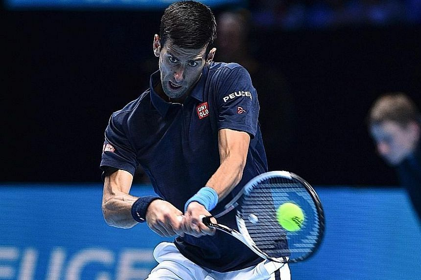 Novak Djokovic at the ATP World Tour Finals, where his backhand was especially suspect in his final loss to new world No. 1 Andy Murray. The Serb's two-handed backhand was a key weapon during his long dominance at the top.