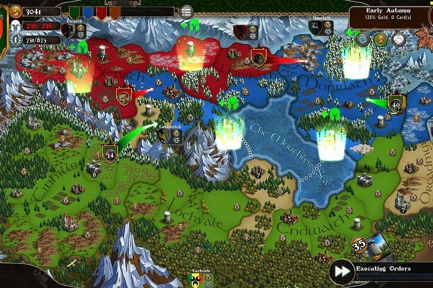 Like many strategy games, the limiting resource in Legends Of Callasia is gold.