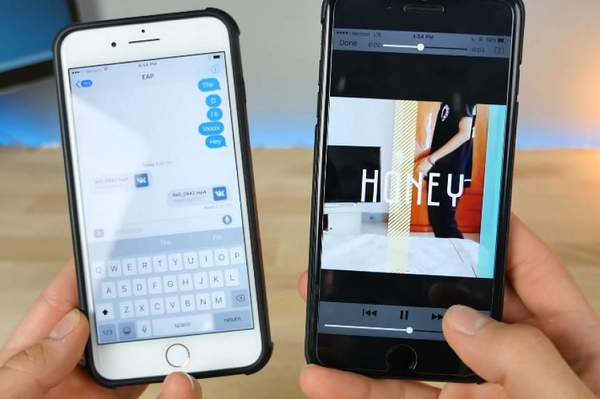 """A screenshot showing the """"Honey"""" video which is locking up iPhone models."""