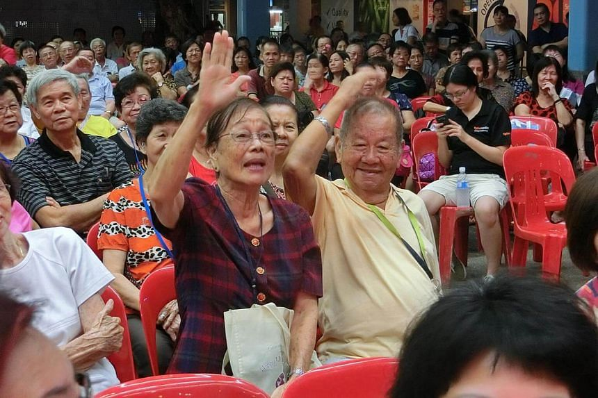 As part of a pilot project, Pave organised a getai performance to help raise awareness of abuse among the elderly.