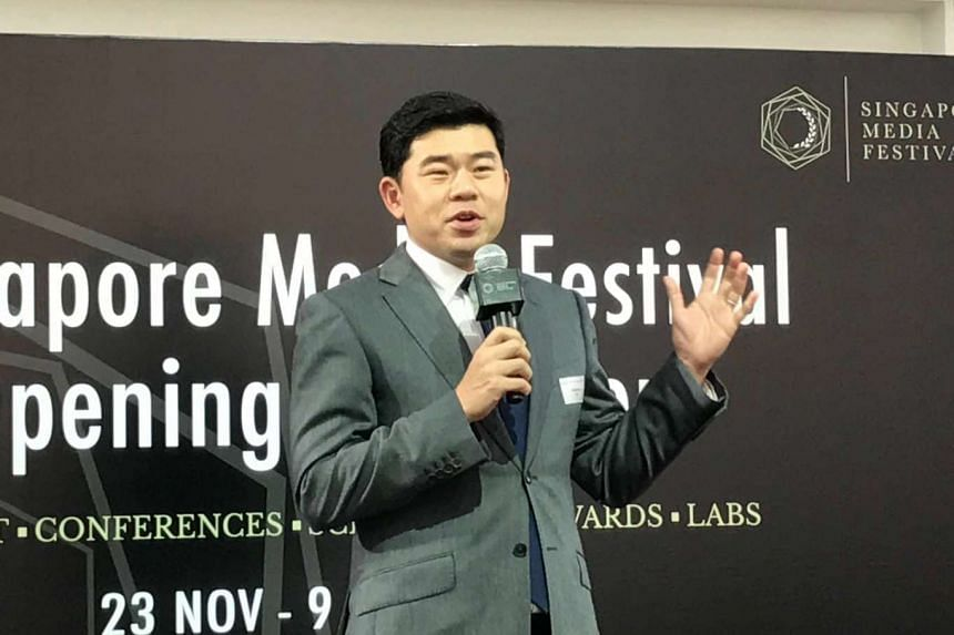 Info-communications Media Development Authority chief executive Gabriel Lim at the launch of the Singapore Media Festival.