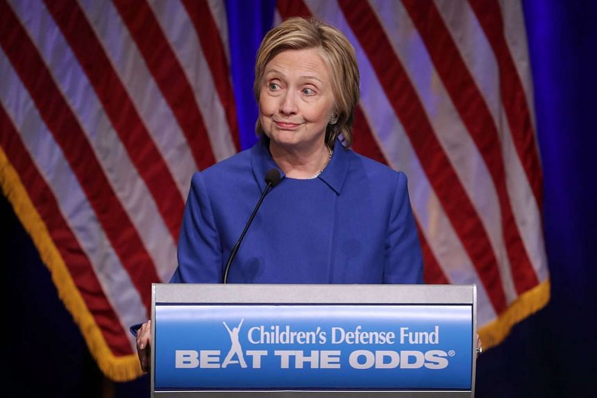 Former Secretary of State Hillary Clinton delivers remarks while being honoured during the Children's Defense Fund's Beat the Odds Celebration at the Newseum on Nov 16, 2016.
