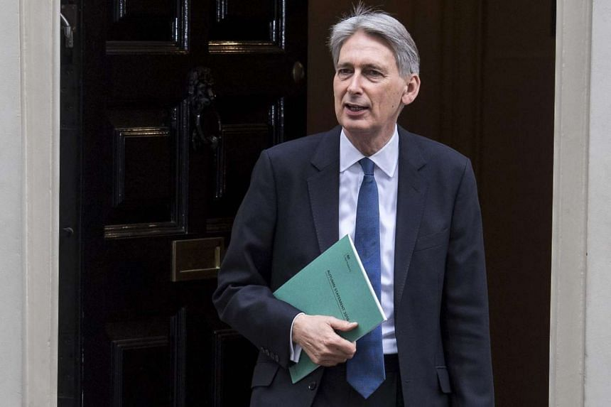 Chancellor of the Exchequer Philip Hammond leaves 11 Downing Street in London, Britain on Nov 23, 2016.