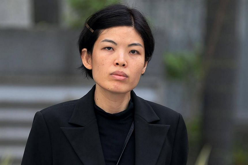 Former AIA insurance agent Sally Low Ai Ming, arriving in Court on April 25, 2016.