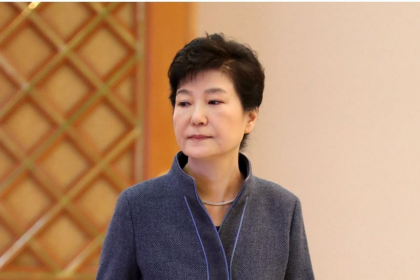 South Korean President Park Geun Hye attends an event to grant certificates of appointments to new officials at the presidential Blue House in Seoul on Nov 18, 2016.