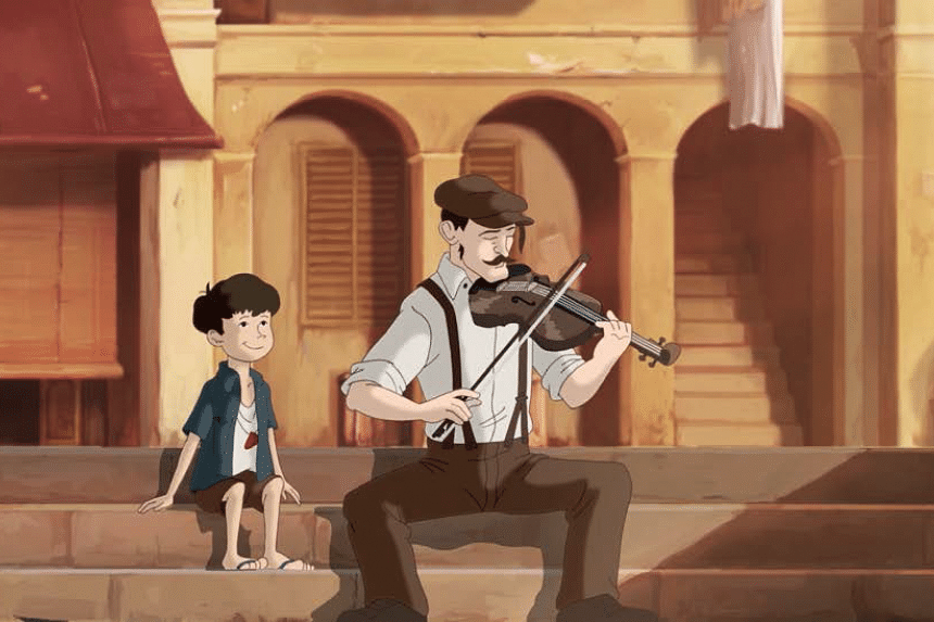 A movie still from The Violin (小提琴) by Ervin Han.